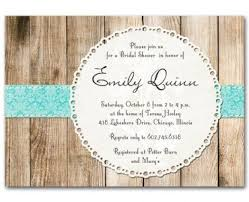 T S M L F Wedding Invitation Rustic Shower