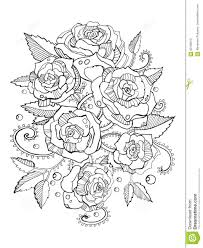 Royalty Free Vector Download Roses Coloring Book