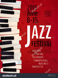 Jazz Music Festival Poster Background Template Keyboard With