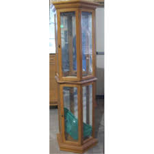 lighted glass display cabinet 82 with lighted glass display