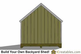 12x16 Wood Storage Shed Plans by 12x16 Cape Cod Style Shed Plans Icreatables