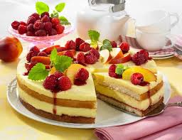 schnelle obst pudding torte