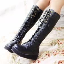 popular gothic knee high boots buy cheap gothic knee high boots