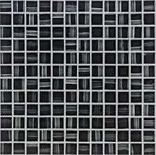 glasmosaik fliesen schwarz wand boden dusche wc küche 10