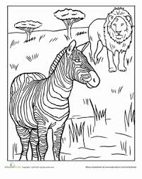 First Grade Coloring Worksheets African Animals Page