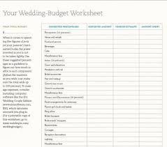 Wedding Worksheets Tools Chicago Budget Calculator