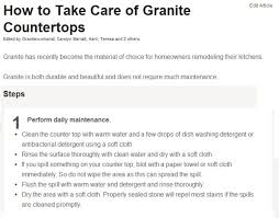 Care Granite Countertops BSTCountertops