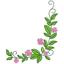 Floral Corner Embroidery Designs Machine Embroidery Designs At