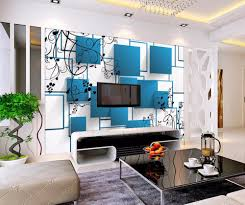 100 Home Decoration Interior US 885 41 OFFBeibehang Decoration Wallpaper Mural 3D Blue Box Simple TV Background Living Room Bedroom Interior Mural Photo 3d Wallpaperin