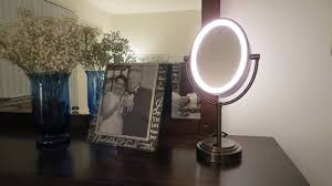 Extendable Bathroom Mirror Walmart by Lighted Makeup Mirror Bronze Roselawnlutheran