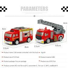 Amazon.com: Remote Control Fire Truck, ECLEAR Mini RC Rescue Fire ...