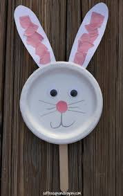 Bunny Paper Plate Puppet Craft For Kids