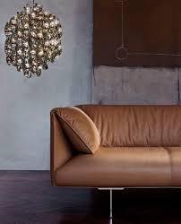 canapé poltrona frau contemporary sofa leather by jean massaud 2 seater