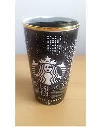 Starbucks Coffee York Times Square Black Gold Ceramic Mug Cup Tumbler Limited Editi