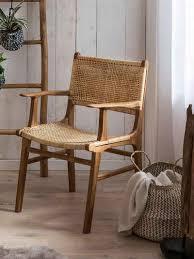 sit esszimmerstuhl mit armlehnen moderner rattanstuhl