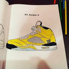 Chic Inspiration Sneaker Coloring Book JordanSneaker Books FEELGOOD THREADS