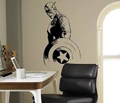 captain america wandaufkleber vinyl aufkleber comics home interior kinder decor ideen schlafzimmer kinderzimmer abnehmbare design 6