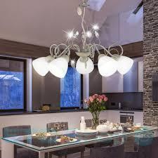 leuchten design pendelluster schlafzimmer glas blätter