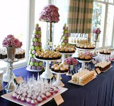 Cocoa And Fig Wedding Dessert Table