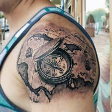 Compass Tattoo DesignTattoo Design For MenTattoo DesignsWorld Map TattoosTattoo GuysTattoo ArtSamoan TattooInspiration Ideas