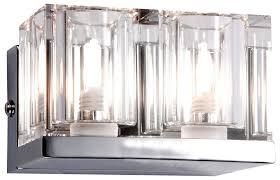 2er set wand design le leuchte halogen badezimmer beleuchtung glas chrom