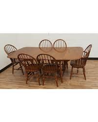 Vintage Maple Dining Set Windsor Chairs Moosehead Maine