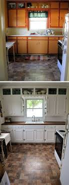Before And After 25 Budget Friendly Kitchen Makeover Ideas Above Cupboard DecorDiy