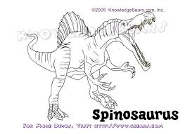 Spinosaurus Dinosaurs Information And Coloring Pages Kbears