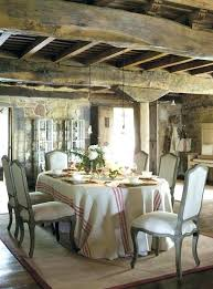 Rustic Dining Table Centerpiece Ideas Room French Chairs In Old Stone With Wood Beams