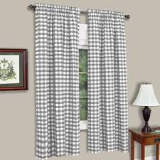 Checkered Flag Window Curtains by Check U0026 Plaid Curtains U0026 Drapes You U0027ll Love Wayfair