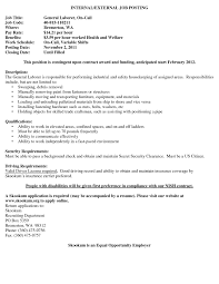 General Labor Resume Objective Awesome Examples Of