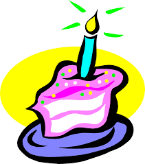 Illustration of a slice of birthday cake with a candle Free Stock