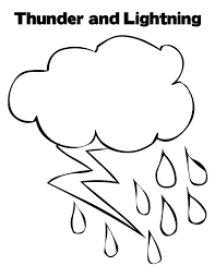 Lightning Coloring Pages Thunder And Lighting Bolt Page Color Free