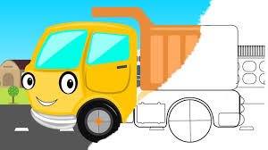 100 Construction Trucks Video Coloring Book Dumper Truck Vehicle Toy Truck