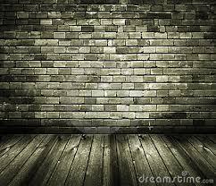 Rustic House Interior Brick Wall Wooden Floor