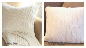 Pottery Barn Throw Pillows by How To Make The Pottery Barn Knock Off Sweater Pillow Home Is