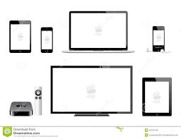 Apple Ipad Mini Iphone Ipod Mac Tv Editorial Image Illustration