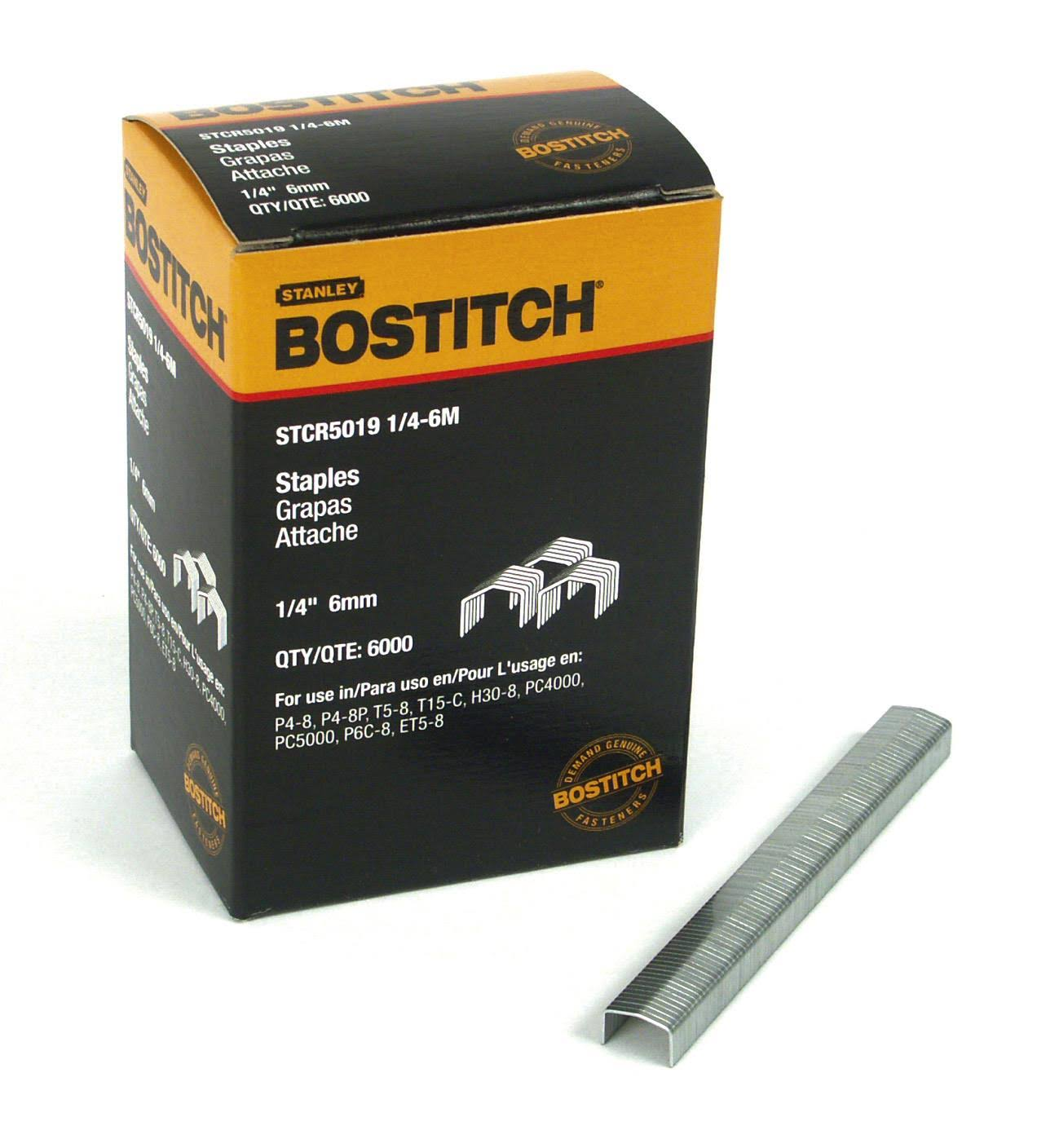 "Bostitch Power Crown Staples - Silver, 1/4"" x 7/16"""