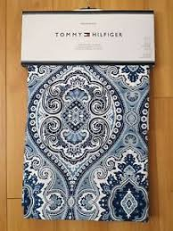 new tommy hilfiger prairie paisley blue window curtain panels