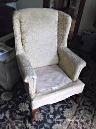 Oversized Wingback Chair Slipcovers by Homespun Happenings My First Upholstered Wing Chair