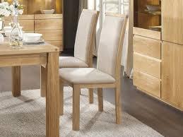 chaise en ch ne massif chaise de table en chêne massif et assise en tissu collection panama