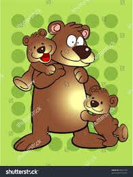 Brown Bear Clipart Daddy Pencil And In Color