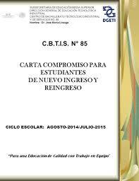 CARTA COMPROMISO PARA ESTUDIANTES DE NUEVO INGRESO Y REINGRESO Ppt
