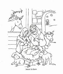 Jesus Is Born And Love Me Coloring Page