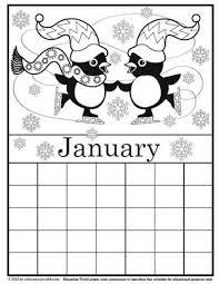 Education World Coloring Calendar January