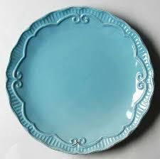 Home Accents Capri Aqua Dinner Plate