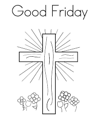 Good Friday Coloring Pages Shining Cross