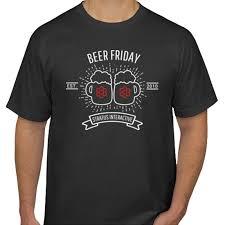 Beer Friday Vintage T Shirt Mens