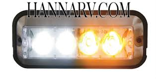 Buyers Snowplow 4 LED Amber and Clear Strobe Light 4 7 8