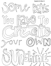 All Quotes Coloring Pages Great Doodle Page To Use In Printable